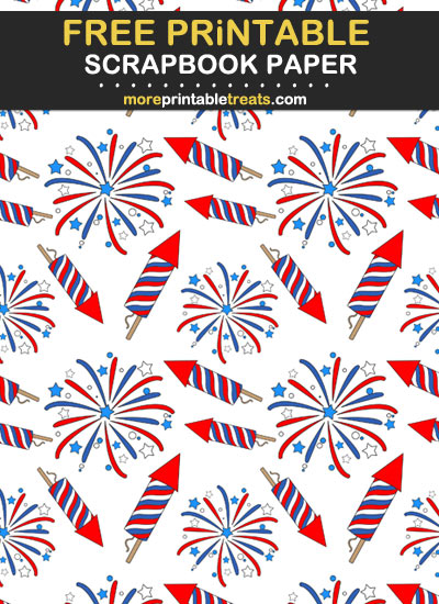 Free Printable July Fourth Scrapbook Paper