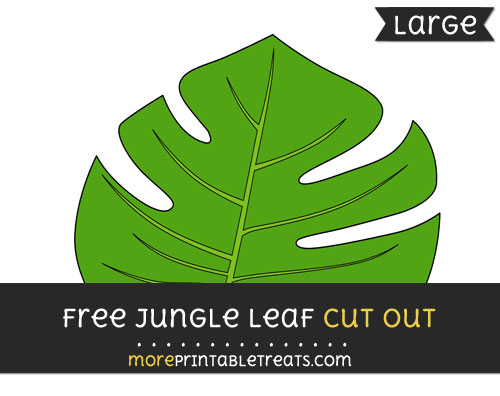Free Jungle Leaf Cut Out - Large size printable