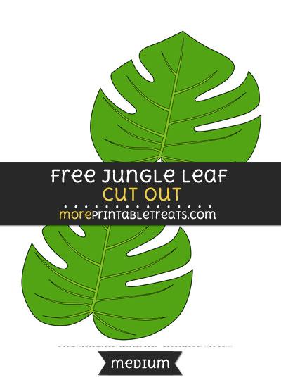 Free Jungle Leaf Cut Out - Medium Size Printable