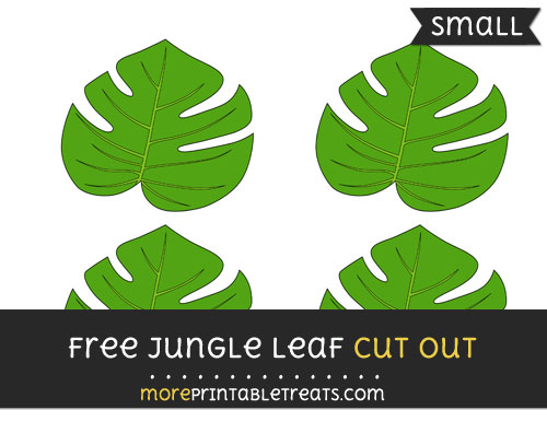 Free Jungle Leaf Cut Out - Small Size Printable