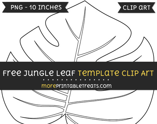 Free Jungle Leaf Template - Clipart