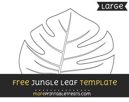 Free Jungle Leaf Template - Large