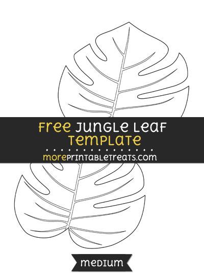 Free Jungle Leaf Template - Medium
