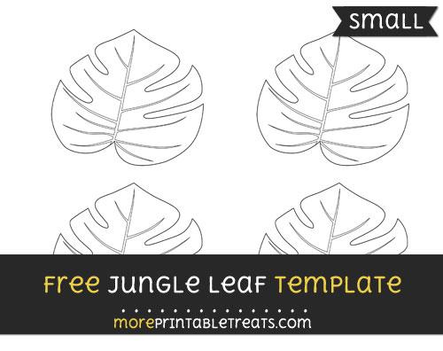 Free Jungle Leaf Template - Small
