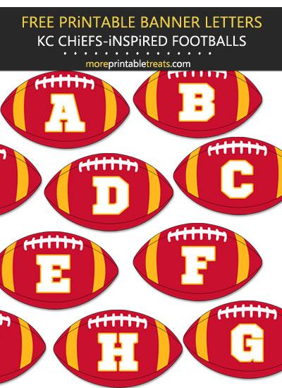 Free Printable Kansas City Chiefs-Inspired Football Alphabet