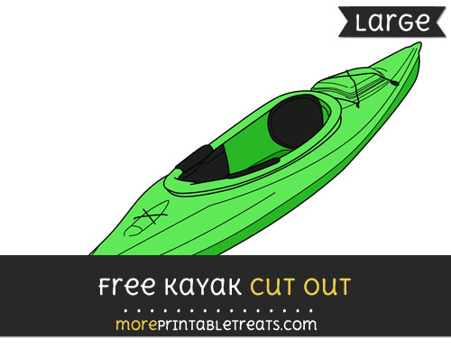 Free Kayak Cut Out - Large size printable