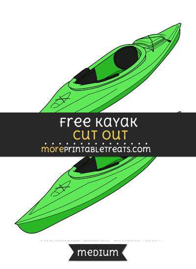 Free Kayak Cut Out - Medium Size Printable