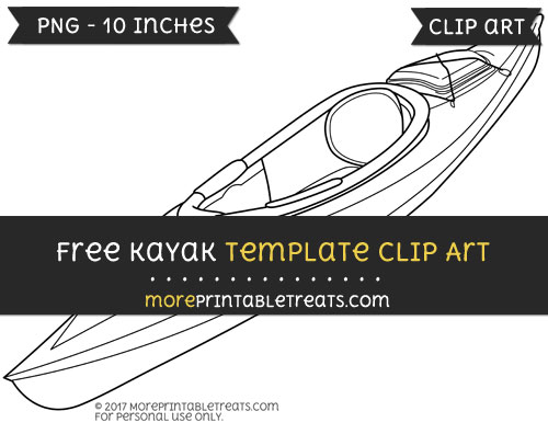 Free Kayak Template - Clipart