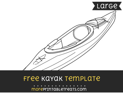 Free Kayak Template - Large