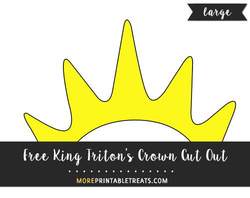 Free King Triton's Crown Cut Out - Large