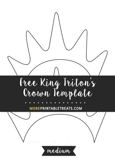 Free King Triton's Crown Template - Medium Size