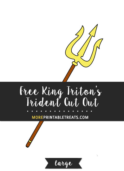 Free King Triton's Trident Cut Out - Large