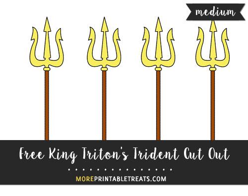 Free King Triton's Trident Cut Out - Medium