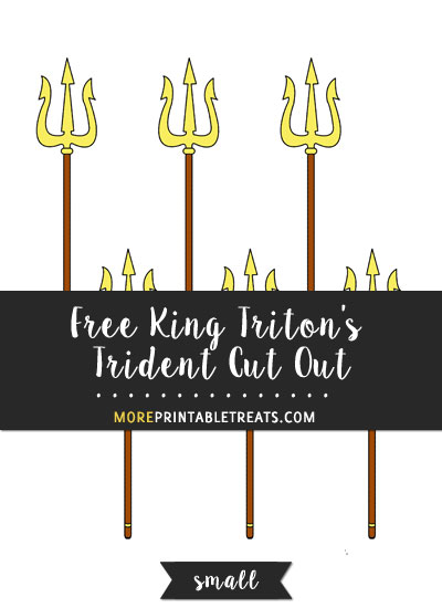Free King Triton's Trident Cut Out - Small
