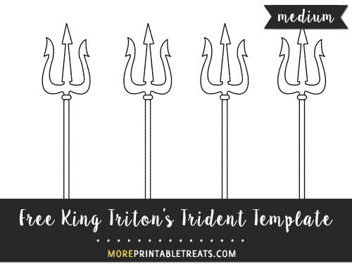 Free King Triton's Trident Template - Medium Size