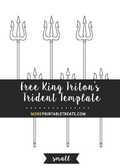Free King Triton's Trident Template - Small Size