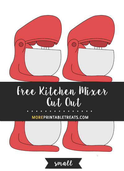 Free Kitchen Mixer Cut Out - Small