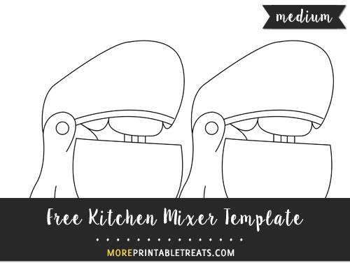 Free Kitchen Mixer Template - Medium