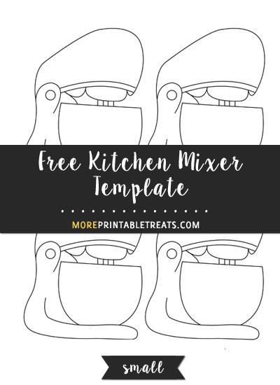 Free Kitchen Mixer Template - Small
