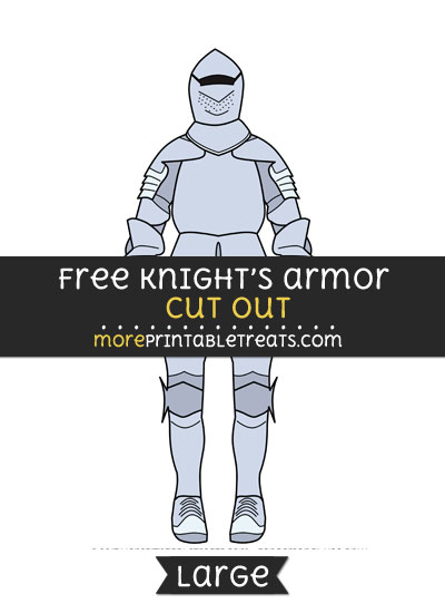 Free Knights Armor Cut Out - Large size printable