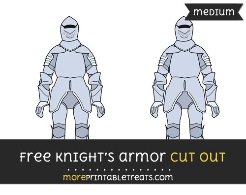 Free Knights Armor Cut Out - Medium Size Printable