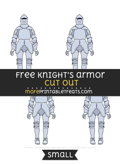 Free Knights Armor Cut Out - Small Size Printable