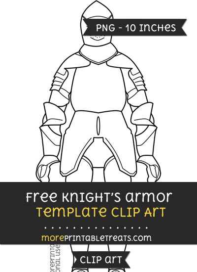 Free Knights Armor Template - Clipart