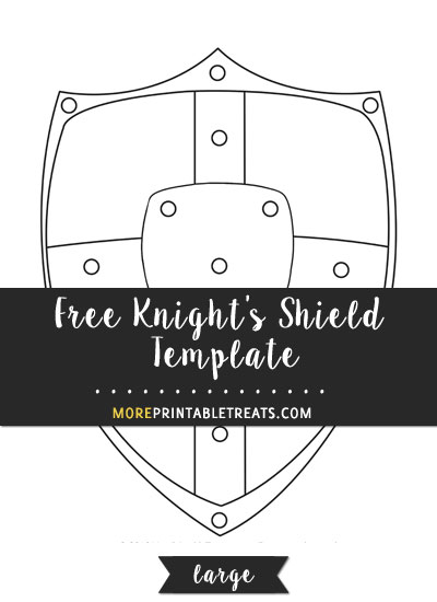 Free Knights Shield Template - Large