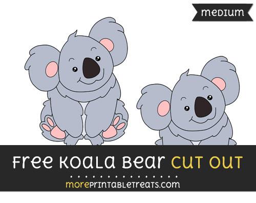 Free Koala Cut Out - Medium Size Printable
