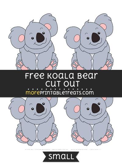 Free Koala Cut Out - Small Size Printable