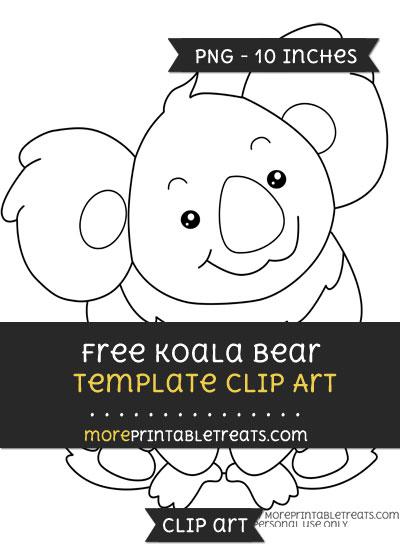 Free Koala Template - Clipart