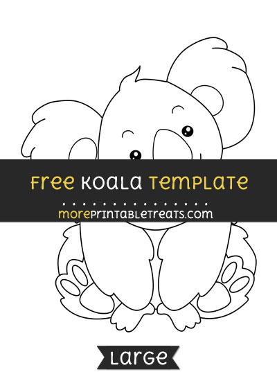 Free Koala Template - Large