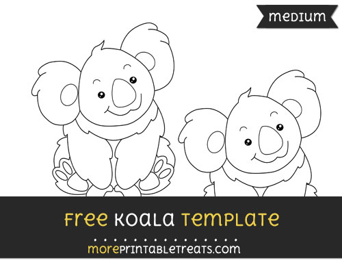 Free Koala Template - Medium