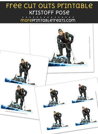Free Kristoff Pose Cut Out Printable with Dashed Lines - Frozen
