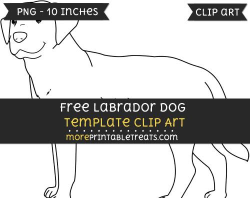 Free Labrador Dog Template - Clipart