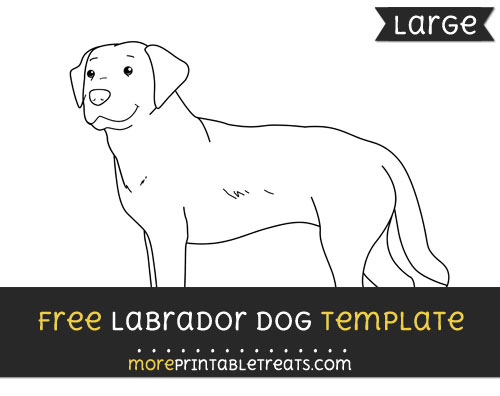 Free Labrador Dog Template - Large