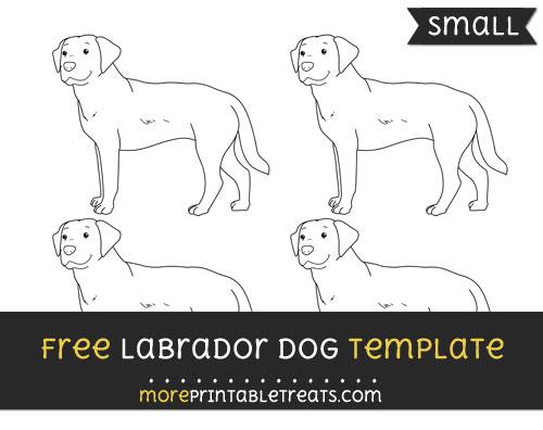 Free Labrador Dog Template - Small