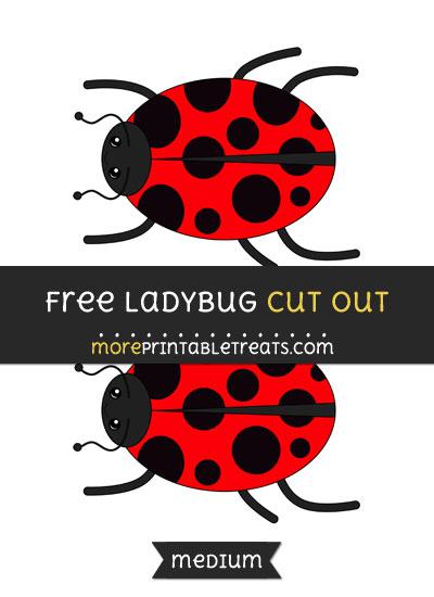 Free Ladybug Cut Out - Medium Size Printable