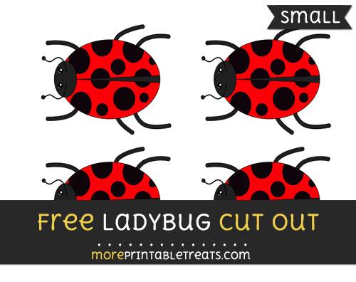 Free Ladybug Cut Out - Small Size Printable