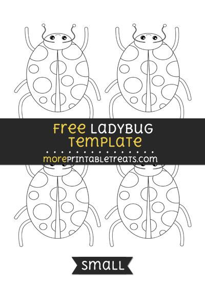 Free Ladybug Template - Small