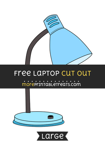 Free Lamp Cut Out - Large size printable