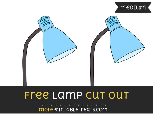 Free Lamp Cut Out - Medium Size Printable
