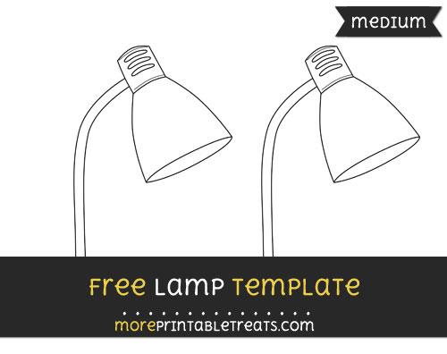 Free Lamp Template - Medium