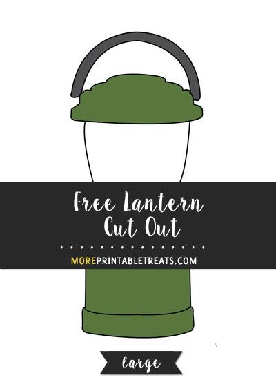Free Lantern Cut Out - Large