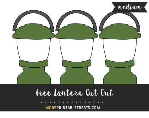 Free Lantern Cut Out - Medium