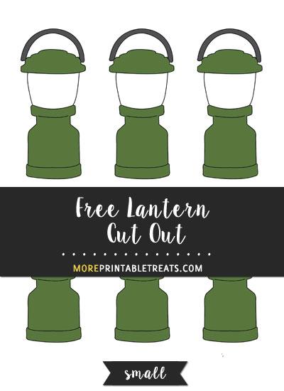 Free Lantern Cut Out - Small