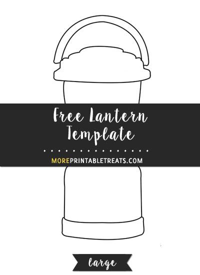 Free Lantern Template - Large