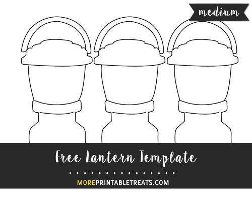 Free Lantern Template - Medium