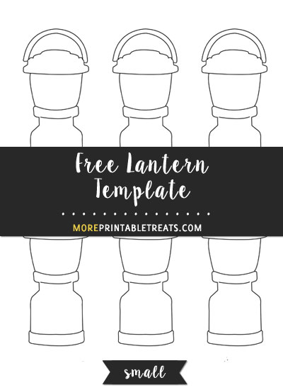 Free Lantern Template - Small