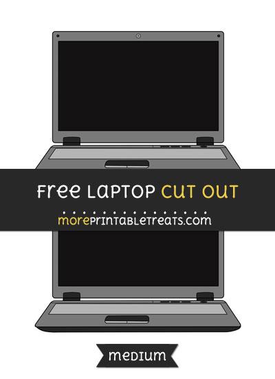 Free Laptop Cut Out - Medium Size Printable